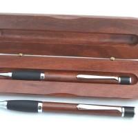 Jarrah Rubber Grip Ballpoint Pen