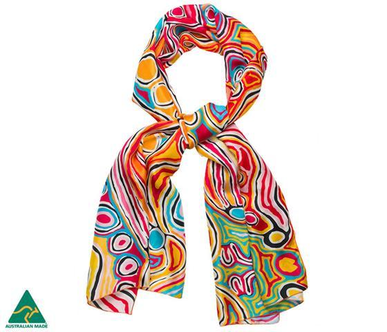 Aboriginal Art Silk Scarf