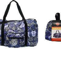 Aboriginal Art Fold up Duffle Bag