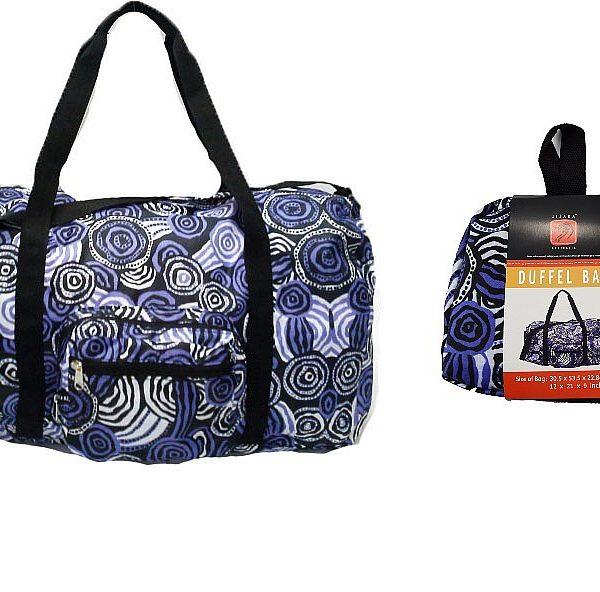 Aboriginal Art Fold up Duffle Bag