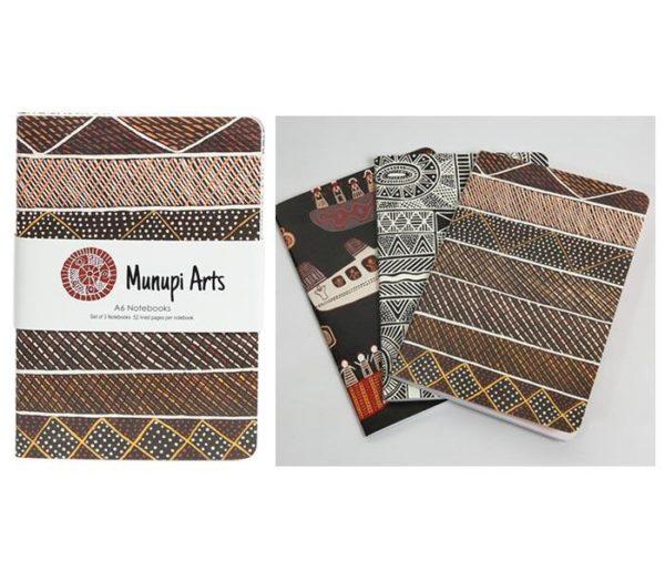 MUNUPI ARTS A6 NOTEBOOKS (X3)