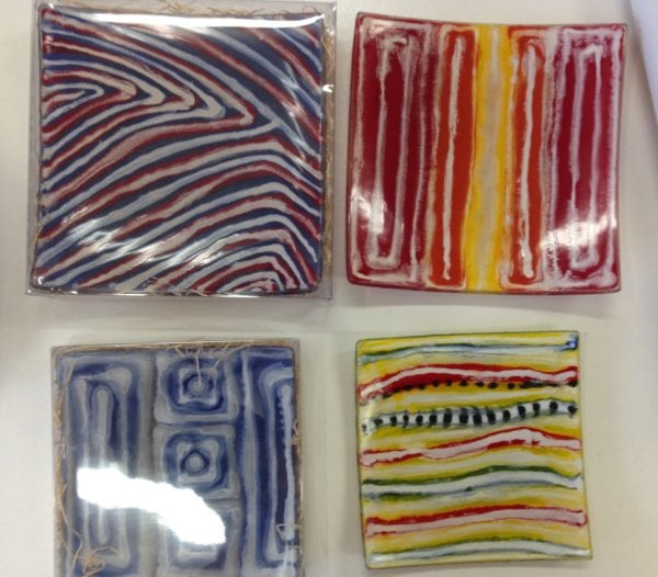 Aboriginal Glass Art - Sushi Plate