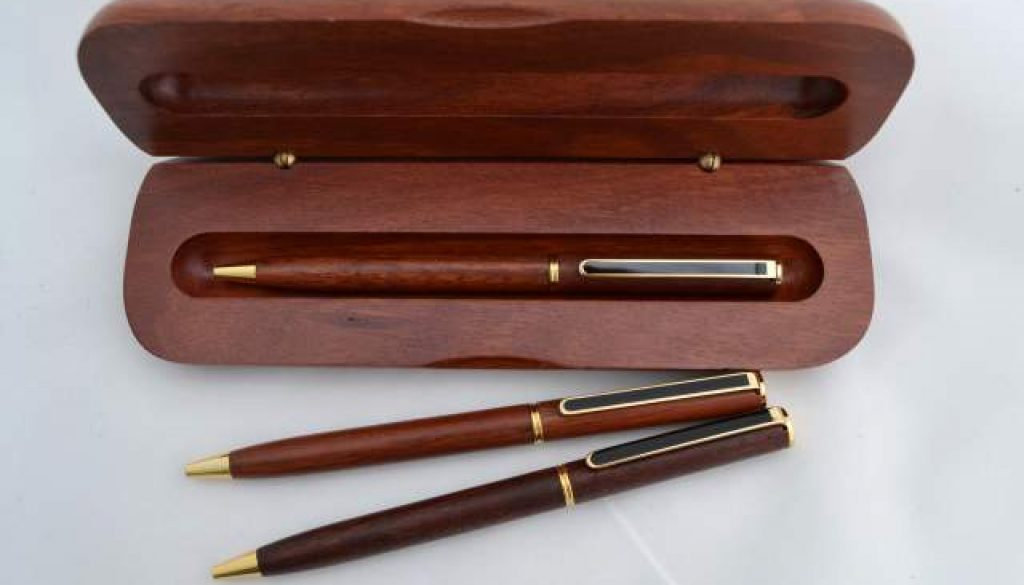 Jarrah Black Clip Rollerball Pen and Box