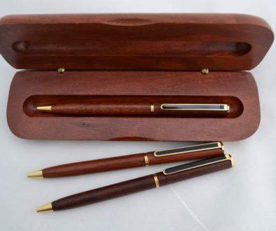 Jarrah Black Clip Rollerball Pen and Box